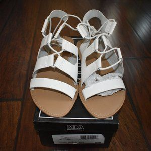 MIA | Lace up leather sandal
